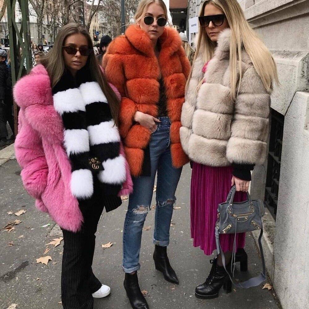 Brown grey Outfit Renard Épais dark 2018 Camel Veste red Col Montant Haute Hiver Manteau Femmes Véritable Grey Qualité Fourrure De Nouvelle Arrivée zTTZqnx41