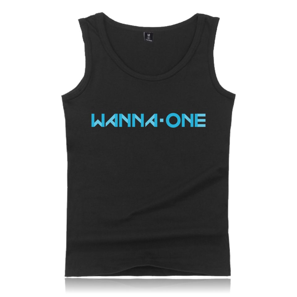 Kpop Korean New Band WANNA ONE Tank Tops Summer Vest Korean Wanna One Women Tank Tops