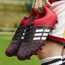 купить Lion Scream Adult Kids Soccer Cleats Turf Football Shoes TF Hard Court Sneakers Soccer Cleats Training Football Sneaker дешево