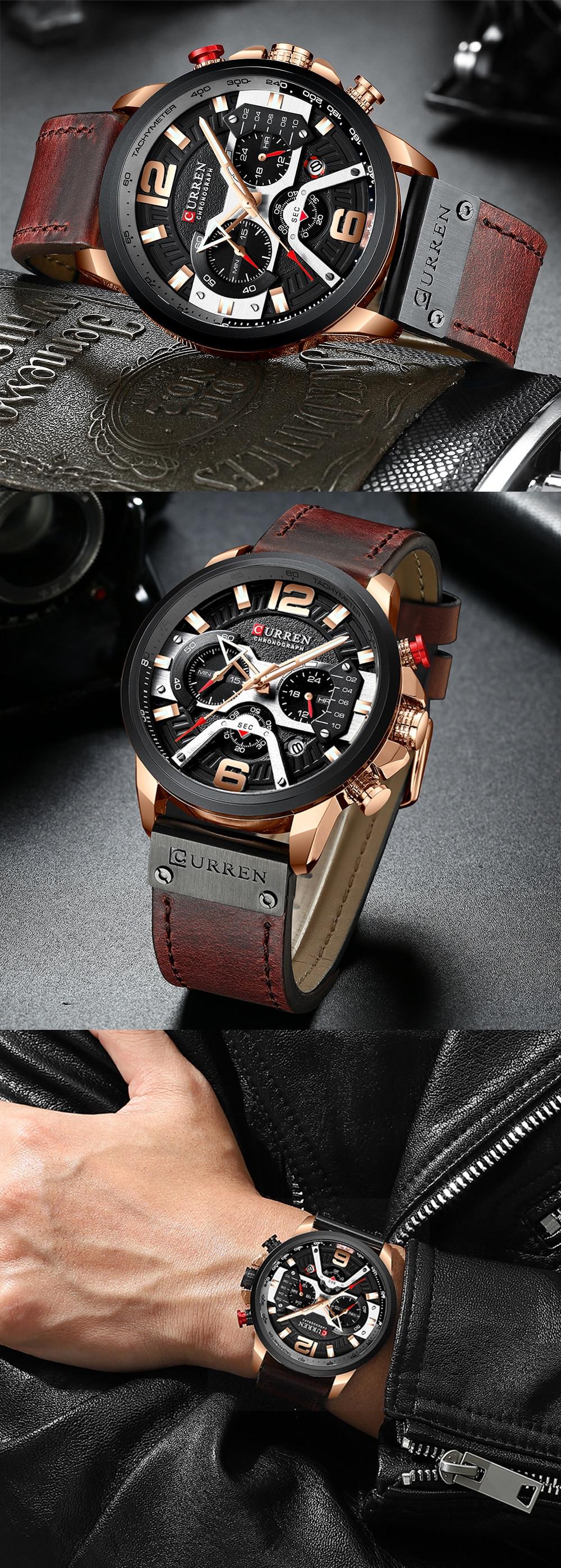 HTB1oPCiT4naK1RjSZFBq6AW7VXa4 Watches Men CURREN Brand Men Sport Watches Men's Quartz Clock Man Casual Military Waterproof Wrist Watch relogio masculino