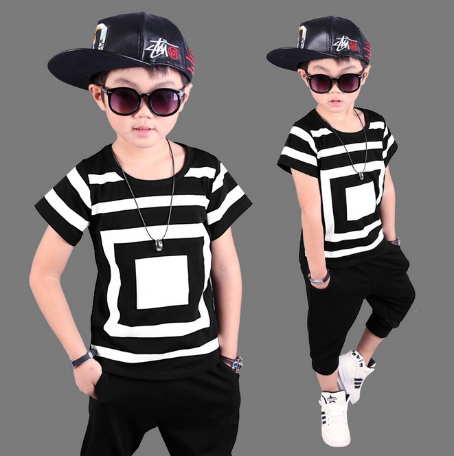 Childrens clothing child summer sports suit 2018 boys casual Short sleeve T-shirt + pants 2pcs sets