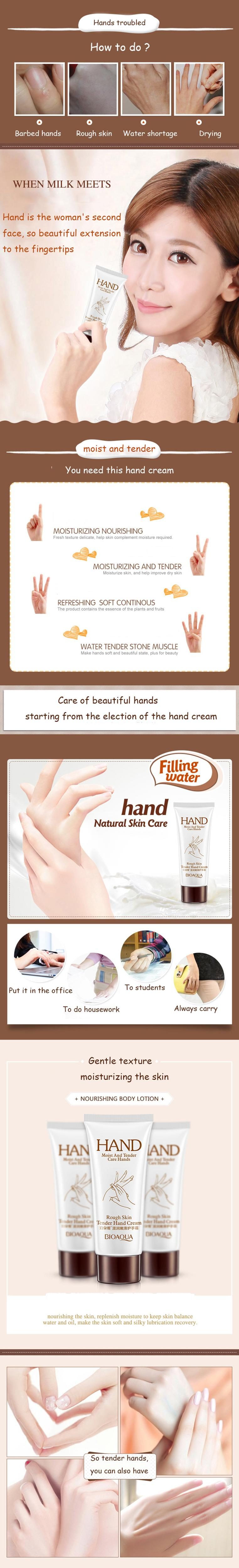 a643a5ca4c1 BIOAQUA Brand Hand Cream Hydrating Hand Lotion Anti-chapping Hand ...