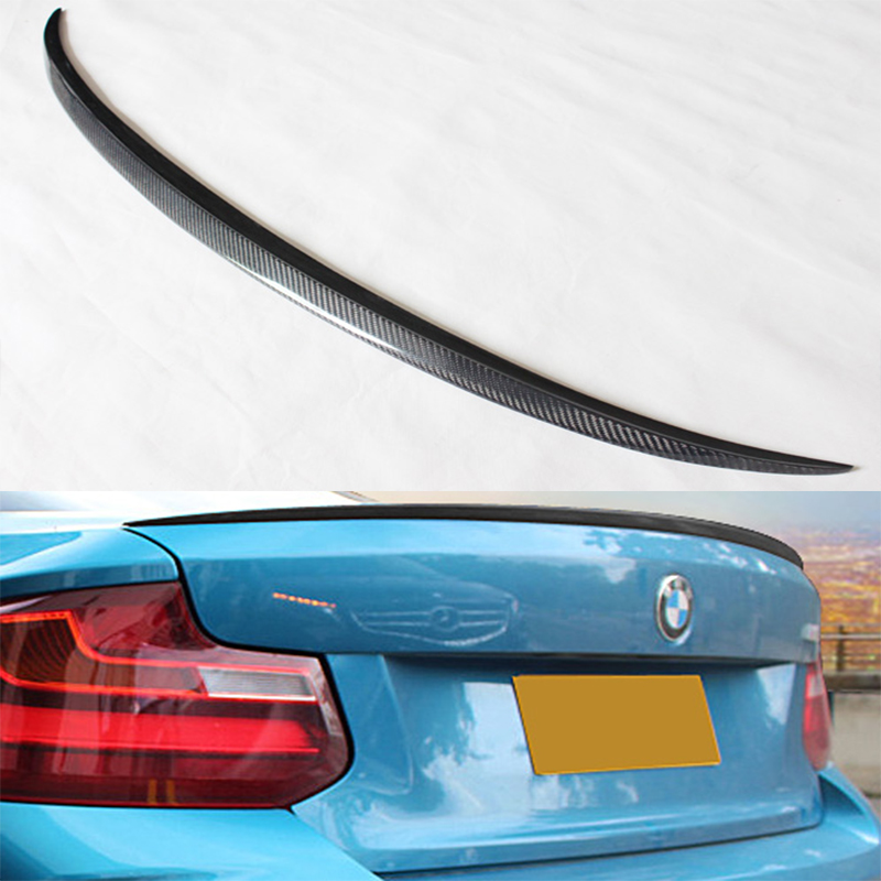 M style spoiler for F22 M235i coupe carbon fiber rear trunk spoiler for BMW F22 218i 220i 228i 2014up yandex w205 amg style carbon fiber rear spoiler for benz w205 c200 c250 c300 c350 4door 2015 2016 2017