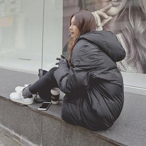 Image 3 - ファッション冬のジャケットの女性2020カジュアルロング冬コート女性黒プラスサイズの女性パーカーcasaco feminino jaqueta feminina