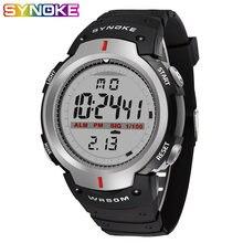Synoke спортивные часы для мужчин 30 м Водонепроницаемые светодиодные