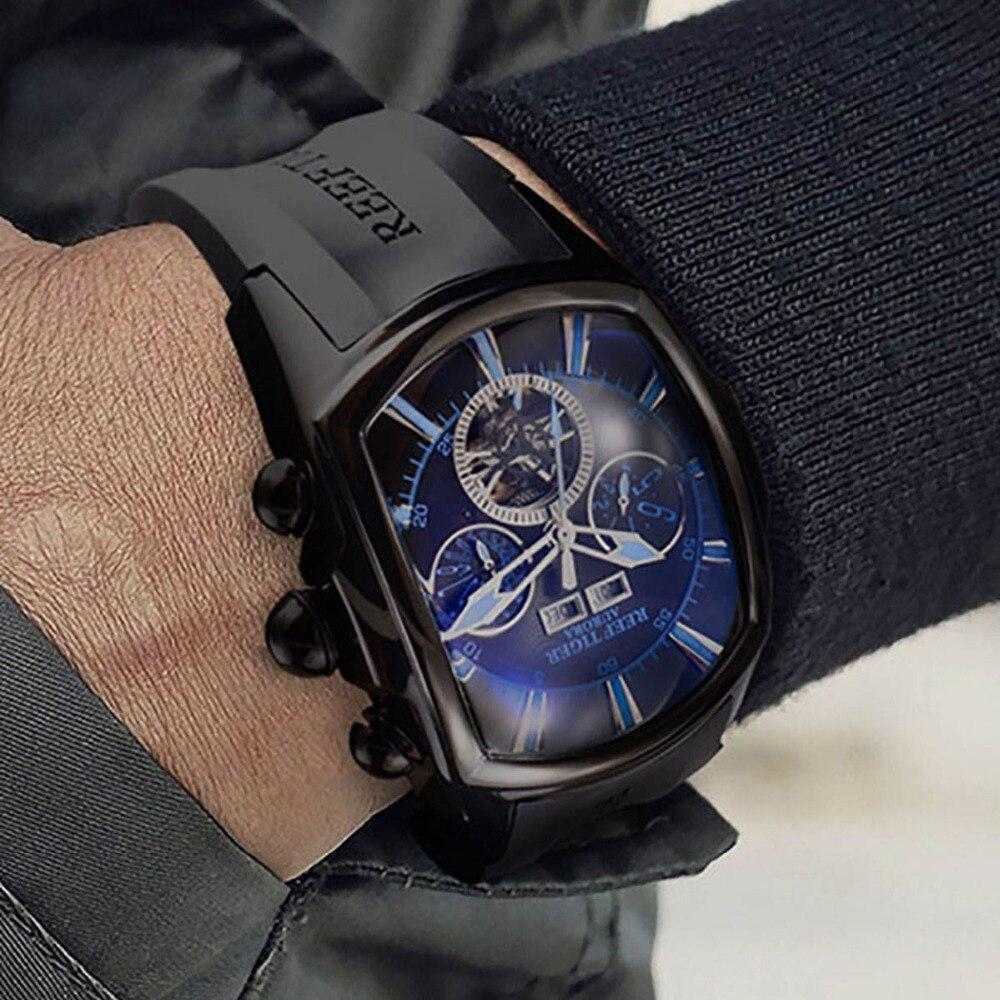 Riff Tiger/RT Top Marke Luxus Big Uhr für Männer Blau Zifferblatt Mechanische Tourbillon Sport Uhren Relogio Masculino RGA3069-in Sportuhren aus Uhren bei  Gruppe 1