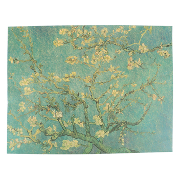 1PCS Retro Apricot Flowers Kraft Paper Open The Masters Of Impression Adornment Poster Starry Night Cafe Wall Sticker 47X36cm image