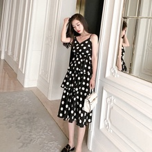 Sexy Women's Dress Polka Dot Long Dress Sleeveless V-neck Women Maxi Dresses Plus Size plus crisscross v back glitter dot dress