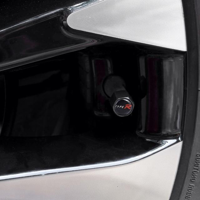 Auto Tire Valve Cap Type-R Logo Car Wheel Cover For Honda Accord Civic CRV Fit H-RV Vezel Odyssey City Jazz Insight Elysion Jade