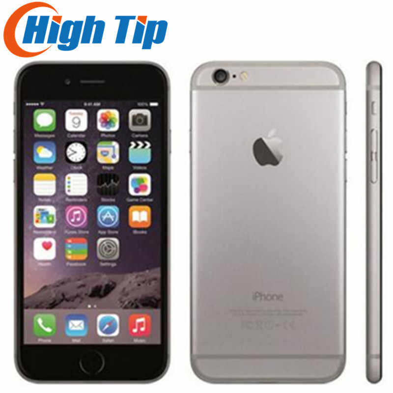 Original Apple iPhone 6 Caja Sellada desbloqueado de fábrica Smartphone Dual Core 4,7 pulgadas 128GB ROM 8MP Multi-Touch WCDMA 4G LTE teléfono