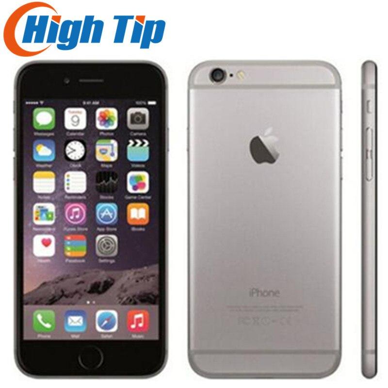 Orijinal Apple iPhone 6 mühürlü kutu fabrika Unlocked Smartphone çift çekirdekli 4.7 inç 128GB ROM 8MP çoklu dokunmatik WCDMA 4G LTE telefon