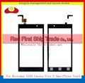 "High Quality 4.5"" For Micromax A104 Canvas Fire 2 SmartPhone Touch Screen Digitizer Sensor Front Glass Lens Black Free Shipping"