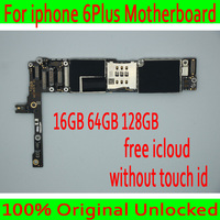 16GB 64GB 128GB for iphone 6 Plus Motherboard without Touch ID,100% Original unlocked for iphone 6P Mainboard with Full Chips