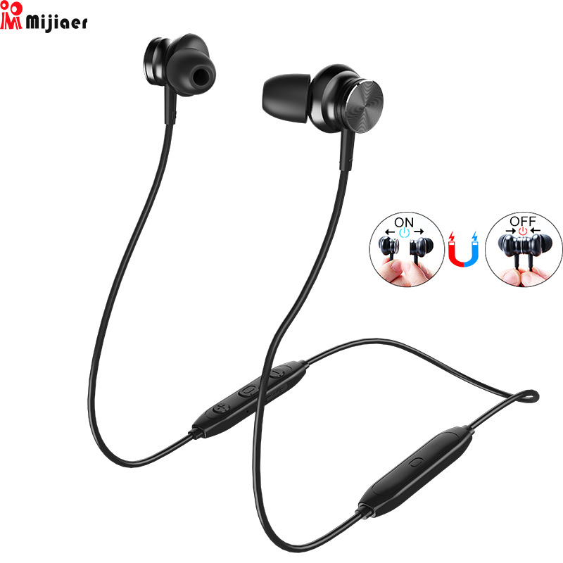 L33 Wireless Headphones Bluetooth Earphone 5 0 Magnetic Switch Sport In ear Earbuds with Mic for