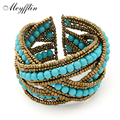 Bohemian Boho Cuff Bracelet for Women Men Jewelry Fashion Resin Beads Charm Bracelets & Bangles Gift pulsera pulseira Mujer