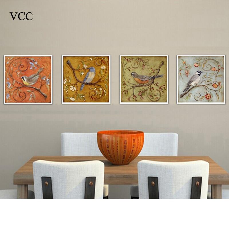 VCC madár, olajfestmény a falon, fal művészet vászon festés, kép Cuadros dekoráció, fal képek nappali, lakberendezés