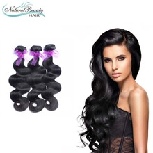 Human hair 3 pcs a lot Brazilian Virgin Hair Body Wave Unprocessed Virgin Human hair hot selling in Natural beauty store