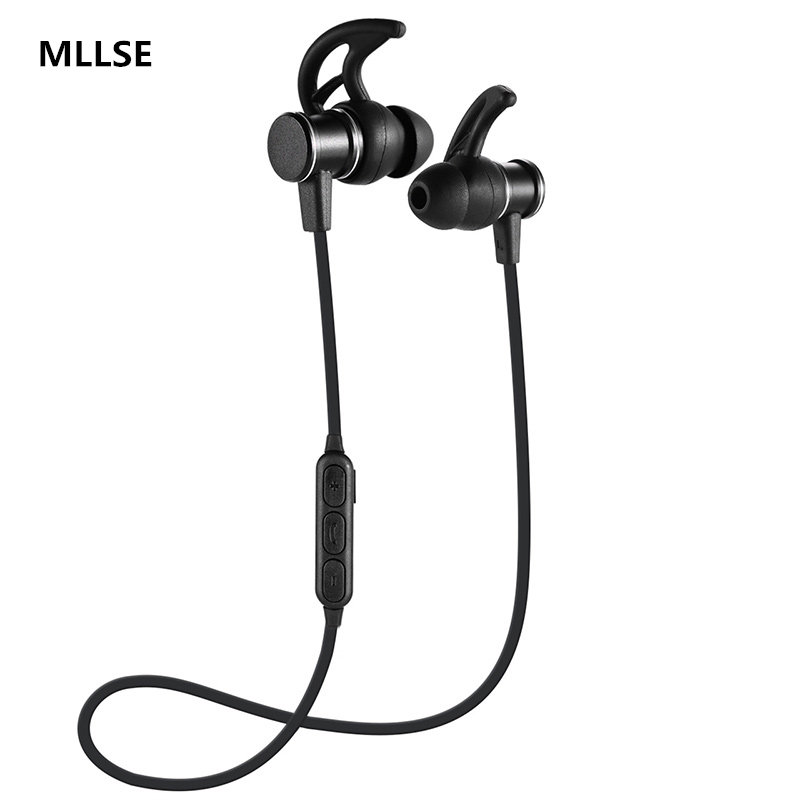 MLLSE bluetooth earphone headphones sport headset wireless bluetooth earphone headphone gamer headset For iPhone Android Phone remax 2 in1 mini bluetooth 4 0 headphones usb car charger dock wireless car headset bluetooth earphone for iphone 7 6s android