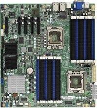 Бесплатная Доставка в Исходном для tyan S7012 1366 pin dual 4 NIC 5520X58 материнская плата сервера (вместо intel s5520hc)