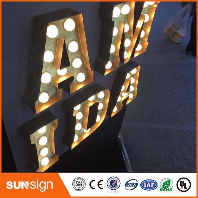 Outdoor custom verlichte reclameborden verlichte letters in Outdoor ...