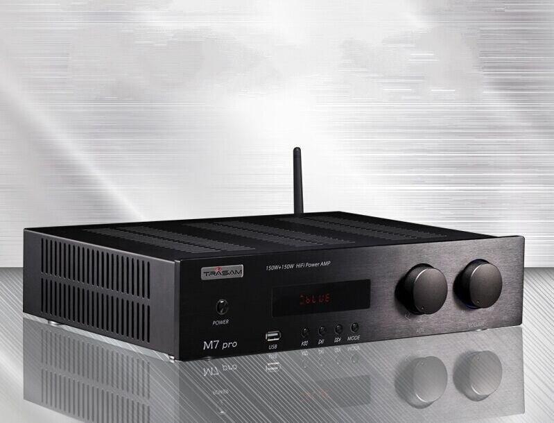 Trasam M7Pro 300 Вт + Bluetooth4.0 + U диск плеер HIFI усилитель мощности 24bit 96 К