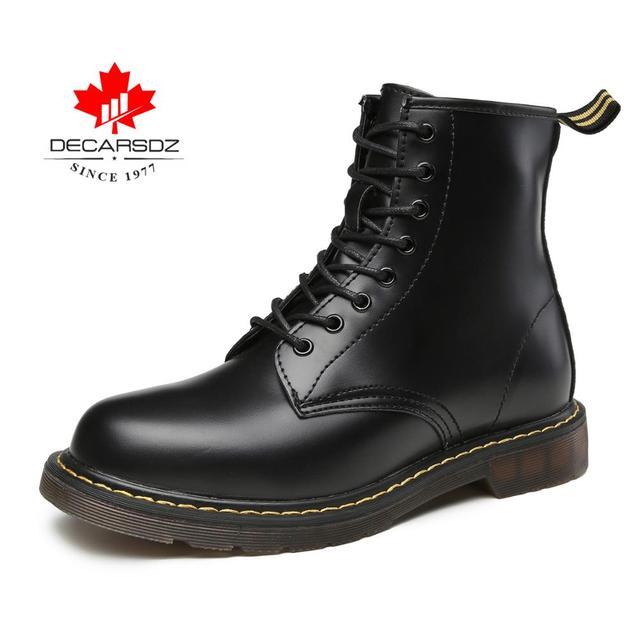 Erkek botları, DECARSDZ yarım çizmeler erkekler, su geçirmez erkek botları dantel-up ve zip motosiklet için/iş/kapalı/açık. rahat ayakkabılar