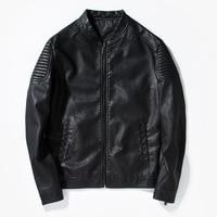 2017 Hot Sale Fashion Men's Leather Jacket Men's Casual Quality Brand Motorcycle Leather Jackets Men Coat Veste Cuir Homme