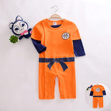 Dragon Ball Children's Jumpsuit Newborn Boys Clothes SUN GOKU Toddler overalls Bebe Halloween Costumes For baby Clothes Autumn(China)
