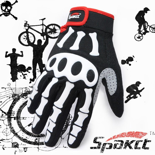Racing motorcycle Cycling Off-road Bike Bicycle Skeleton Full Finger Glove S-XXL