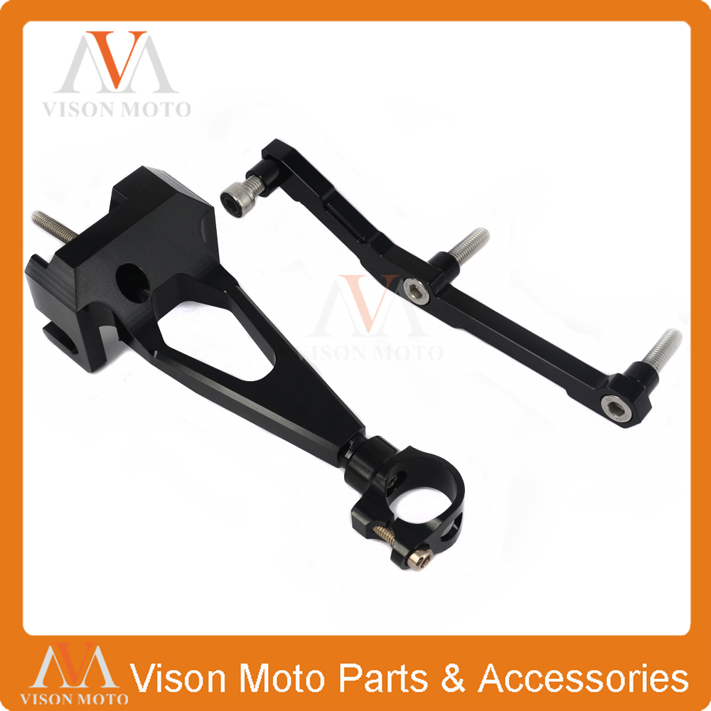 цены CNC Direction Steering Damper Stabilizer Holder Bracket Mounting For YAMAHA MT09 MT 09 13 14 15 16 2013 2014 2015 2016