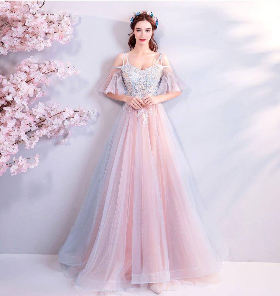 Elegant Off The Shoulder Tulle Long Bridesmaid Dress 2