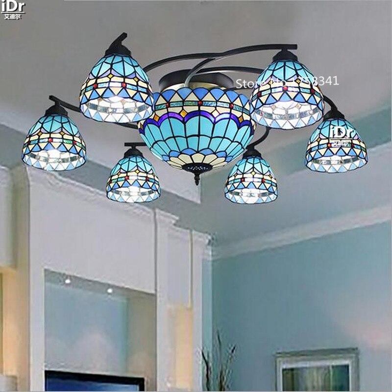 Mittelmeer Continental Hochwertigen Licht Eisen Multi Scheinwerfer Lampe Wohnzimmer Schlafzimmer Restaurant KronleuchterChina