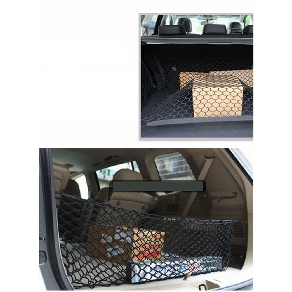 Car Auto Trunk Rear Cargo Organizer Storage Mesh Net Holder with 4 Hooks Durable Car Styling Accessories Elastic Hammock in Nets from Automobiles Motorcycles