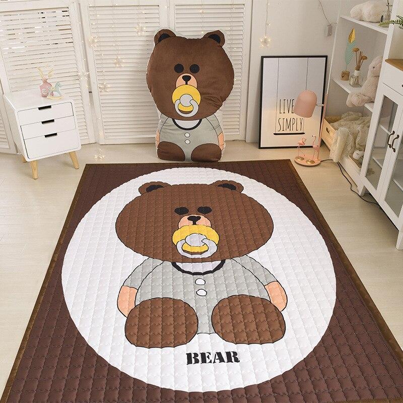 Tapis de jeu nordique en coton pour enfants tapis de jeu pour bébé et enfants tapis d'escalade et tapis matelas en tatami de coton matelassé