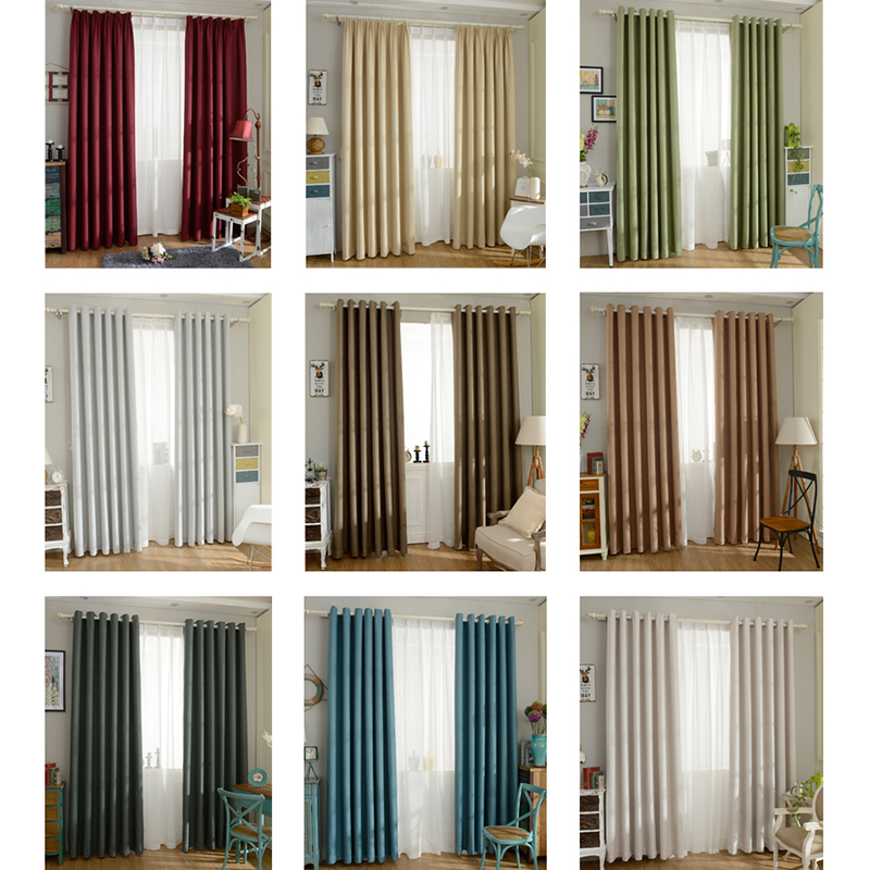 Solid color Blackout curtain(China)