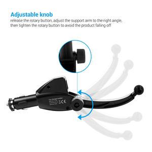 Image 3 - TURATA Stand מחזיק טלפון אוניברסלי לרכב לשקע מצית רכב הר מטען 5 V/3A 2 יציאות USB עבור iPhone X חכם טלפון