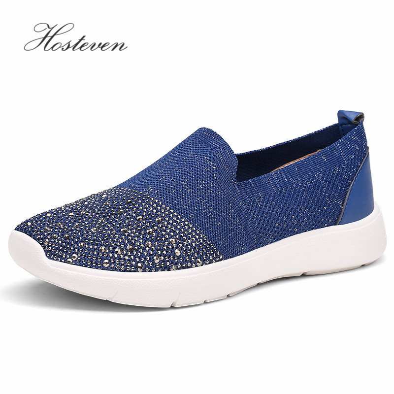 Hosteven Women Shoes Loafers Breathable Air Mesh Walking Sneakers Casual Sport Flats Shoes Spring Summer Solid Shoes renben air mesh women casual shoes fashion flats walking loafers female shoes woman breathable summer shoes zapatillas mujer