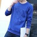 Sudaderas Hombre 2016 Outono Camisa do Basebol Camisola Tigre Impressão Longo-sleeved Camisola Trajes Especiais Camisolas