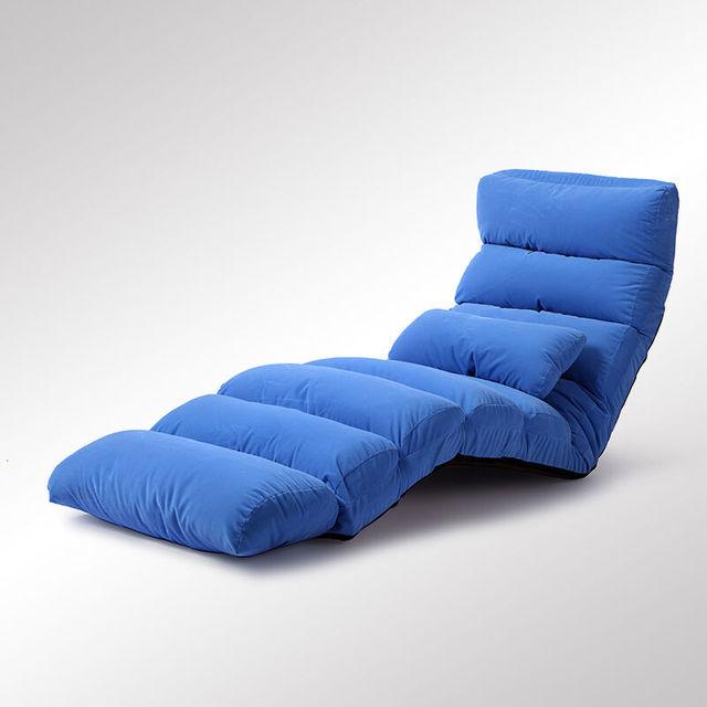 Piso Dobrável Tecido Estofados Chaise Sala de estar Mobiliário Sofá Preguiçoso Sofá Cama Cadeira Espreguiçadeira