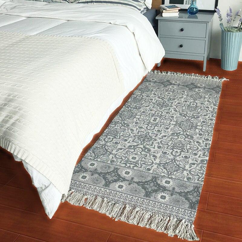 70X160 cm coton chinois fleur tapis pour salon chambre enfant chambre tapis maison tapis décorer plancher porte tapis doux zone tapis
