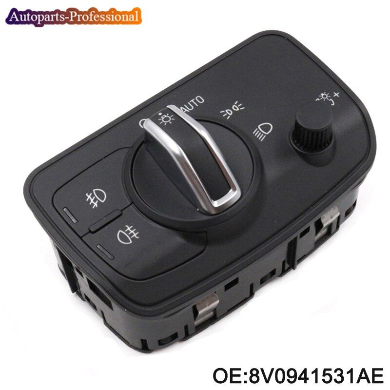 New 8V0941531AE For Audi A3 / Sportback TT / TT Roadster Headlight Switch Fog Lamp Control Button 8V0 941 531AE, 8V0 941 531 AE модель автомобиля 1 18 motormax audi tt coupe