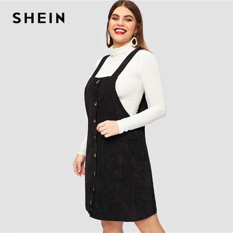 131d7a648595 ... Cord Overall Short Dress Women Spring Casual Regular. RELATED PRODUCTS. SHEIN  Plus Size Black Mock Neck Crop Grid Tee And Skirt Set Women Elegant Stand  ...