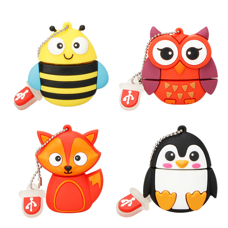 Image 2 - Usb Flash Drive Cute Cartoon Owl Pen Drive 4gb 8gb 16gb 32gb 64gb 128gb Usb Stick High Quality Usb 2.0 Flash Disk Free Shipping-in USB Flash Drives from Computer & Office