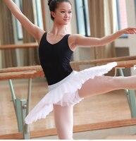 Dancer's Choices Girls Pancake Ballet Tutu Professional White Black Half Ballet Tutus Practice Rehearsal Platter Ballet Dress