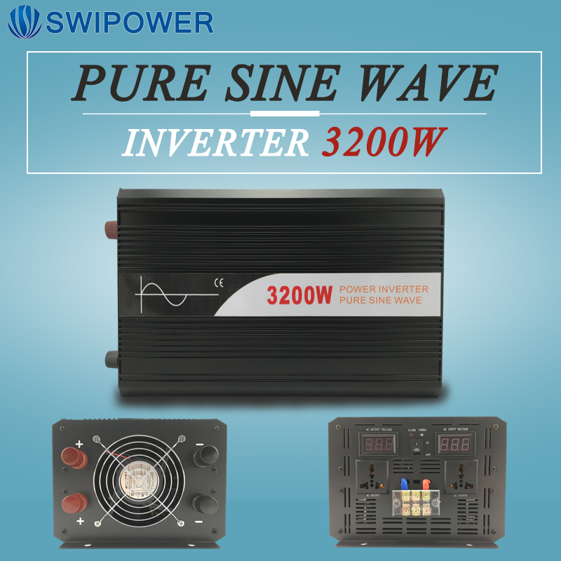 power inverter 3200w 12V/24V/36/48V/60V/72V/96V dc to ac 110V/120V/220V/230V/240V runco v 50hd