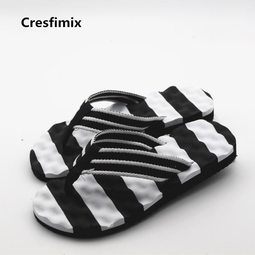 Cresfimix male fashion spring and summer flip flops men cute high quality beach flip flops man's casual EVA bottom flip flops flip