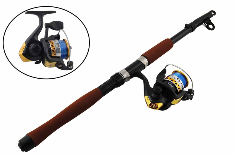 2.1m Portable Lightweight Telescope Fishing Rod and High Speed Spinning Reel Combos Set Fishing Rod&Reel set