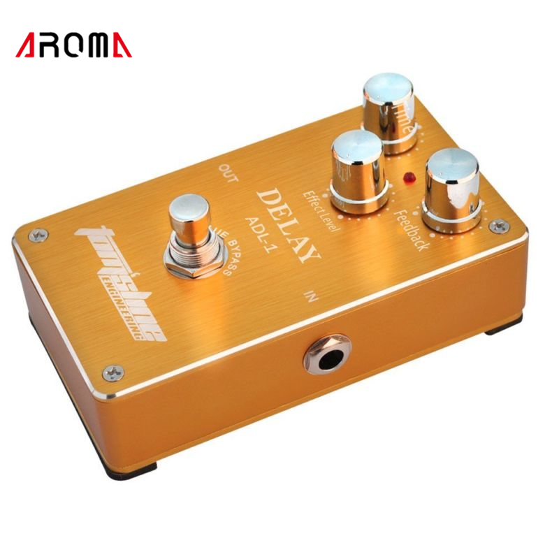 Aroma ADL-1 Aluminum Alloy Housing True Bypass Delay Electric Guitar Effect Pedal for  Guitar Accessories aroma adr 3 dumbler amp simulator guitar effect pedal mini single pedals with true bypass aluminium alloy guitar accessories