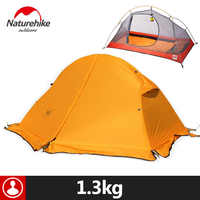 Naturehike Outdoor Tent With Camping Mat 1 Person 20D Silicone Fabric 4 Season Ultralight Double Layers Tent 1.3kg 1.5kg