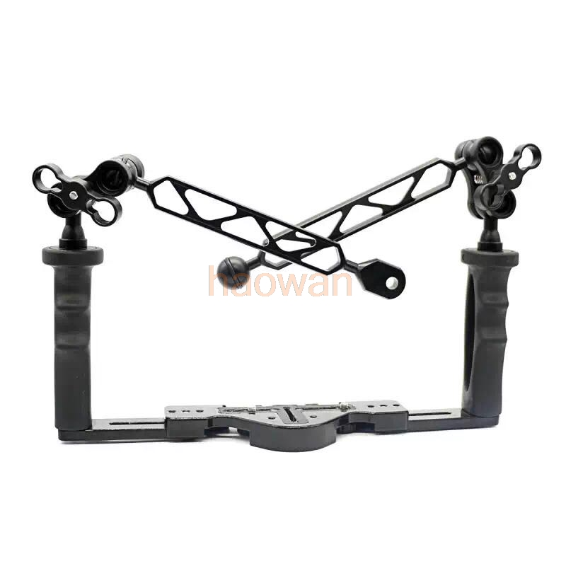 Diving underwater Light Arm tray support holder Double Grip for Gopro Action canon nikon sony pentax fuji olympus camera
